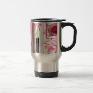 Gerbera Collage Travel Mug