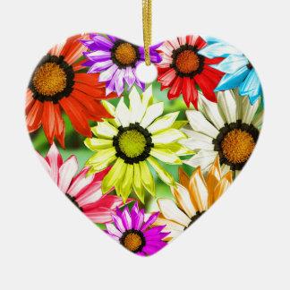 Gerbera colourful flower floral ceramic ornament
