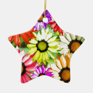Gerbera colourful flower floral ceramic ornament