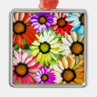 Gerbera colourful flower floral metal ornament