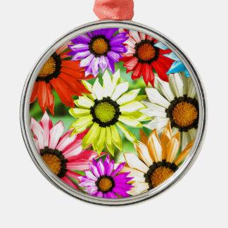 Gerbera colourful flower floral metal ornament