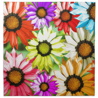 Gerbera colourful flower floral napkin