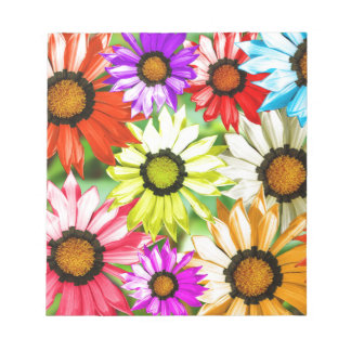 Gerbera colourful flower floral notepad
