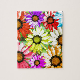 Gerbera colourful flower floral puzzle
