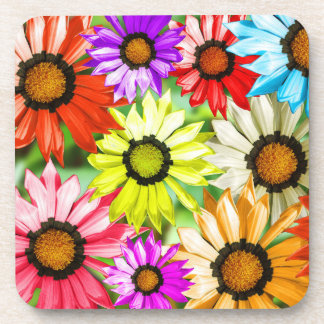 Gerbera colourful flowers coaster