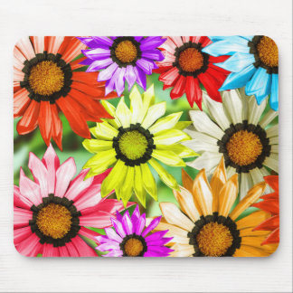 Gerbera colourful flowers mouse pad