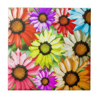 Gerbera colourful flowers tile