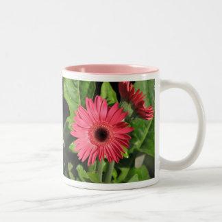 Gerbera Daisies - Pink and Orange Two-Tone Coffee Mug