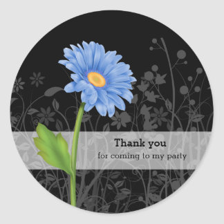 Gerbera Daisy * choose background color Classic Round Sticker