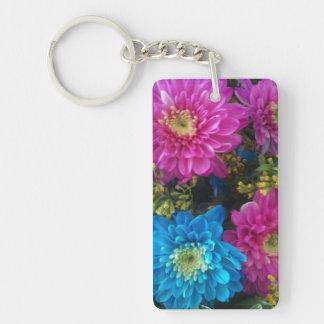 Gerbera Daisy Flowers Double Sided Keychain