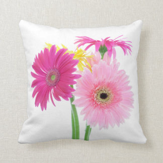 Gerbera Daisy Flowers Throw Pillow