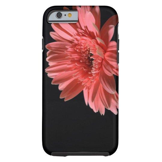 Gerbera daisy on black background 3 tough iPhone 6 case