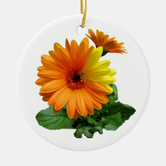 GERBERA DAISY-ORNAMENTS CERAMIC ORNAMENT