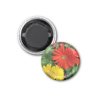 Gerbera Daisy: Personalized Magnet