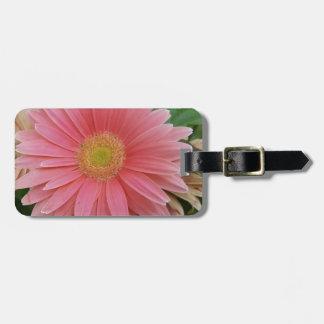 Gerbera Daisy Pink Bag Tag