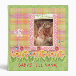 Gerbera Daisy Princess Baby Girl Scrapbook Binder