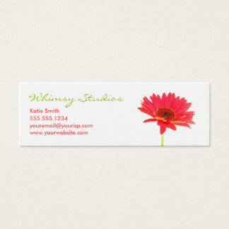 Gerbera Daisy Profile Business Card
