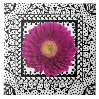 Gerbera Daisy Purple Tile