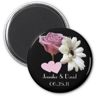 Gerbera Daisy & Rose Wedding Magnet