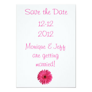 Gerbera Daisy Save the Date Card