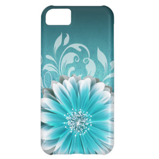 Gerbera Daisy Scroll 1 | teal iPhone 5C Cover
