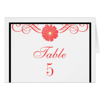 Gerbera Daisy Swirls Table Card