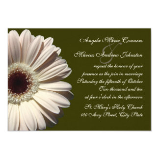 Gerbera Daisy Wedding Card