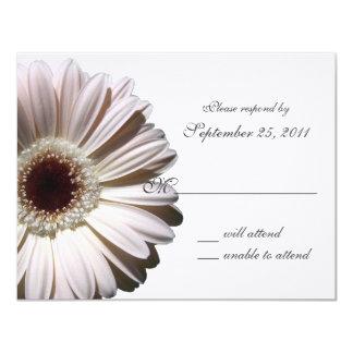 "Gerbera Daisy Wedding/ Response 4.25"" X 5.5"" Invitation Card"
