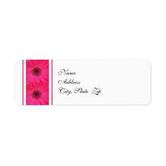 Gerbera Daisy Wedding Return Address Label