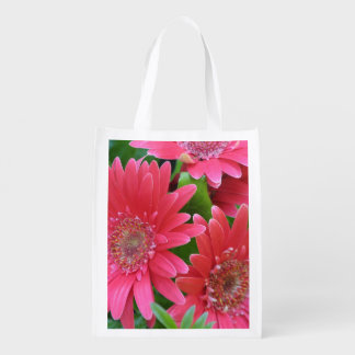 Gerbera Daisy Reusable Grocery Bags