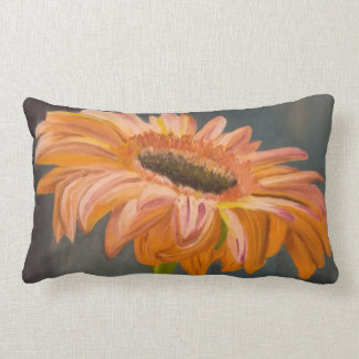 Gerbera flower lumbar pillow