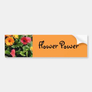 Gerbera Flower Power Bumper Sticker