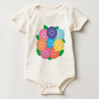 Gerbera flowers baby bodysuit