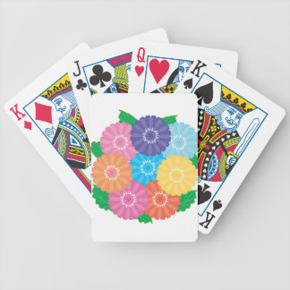 Gerbera flowers bicycle playing cards