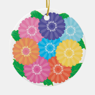 Gerbera flowers ceramic ornament