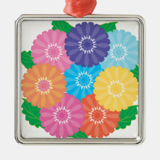 Gerbera flowers metal ornament