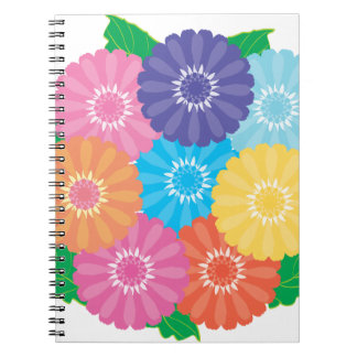 Gerbera flowers notebook