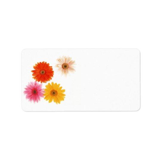 Gerbera Flowers Print Floating Flower Daisy Floral Label
