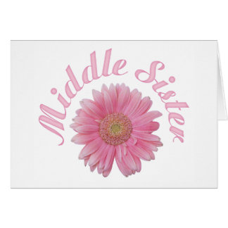 Gerbera Middle Sister Stationery Note Card