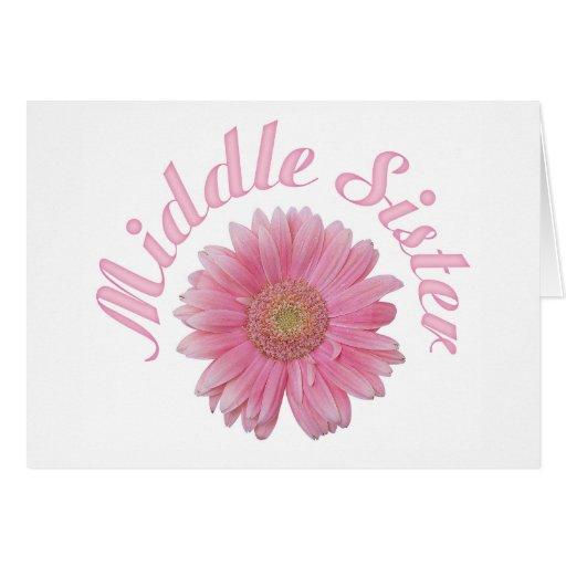Gerbera Middle Sister Card