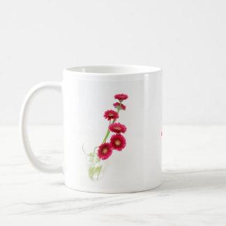 Gerbera red classic white coffee mug