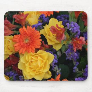 Gerbera Rose Bouquet Mouse Pad