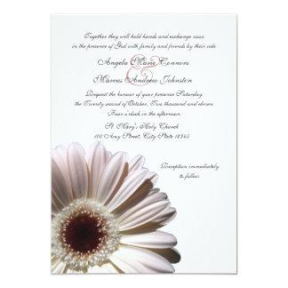 "Gerbera Wedding Daisy 5"" X 7"" Invitation Card"