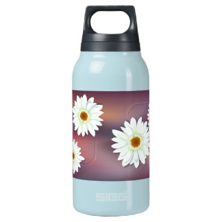 Gerbera White Insulated Water Bottle