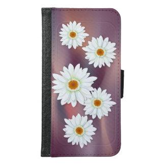 Gerbera White Samsung Galaxy S6 Wallet Case
