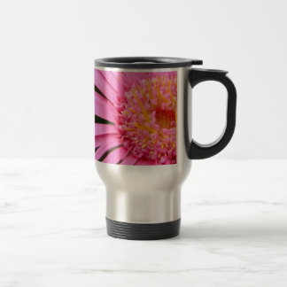 Gerbera with ladybug 15 oz stainless steel travel mug