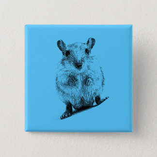 Gerbil Animal Baby Illustration Pet Gerbils 2 Inch Square Button