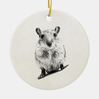 Gerbil Animal Baby Illustration Pet Gerbils Ceramic Ornament