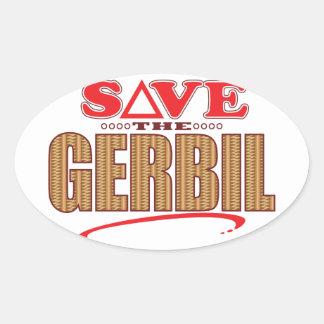 Gerbil Save Oval Sticker