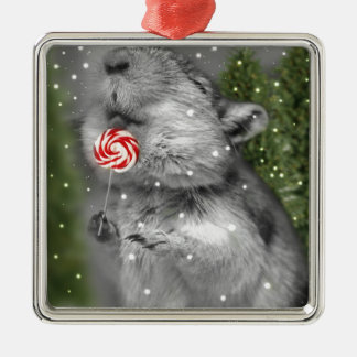 Gerbil's Christmas Dream Metal Ornament
